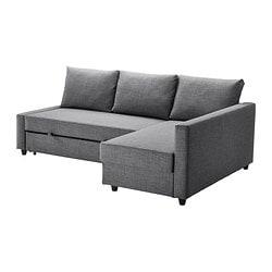 ИКЕА FRIHETEN, Угловой диван-кровать, 392.167.54, Скифтебо темно-серый
