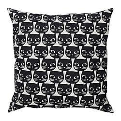 ИКЕА GERDIE, Подушка, 604.106.31, белый, черный кот, 40x40 см