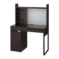 ИКЕА MICKE, стол письменный, 499.267.49, Черно-коричневый, 105x50 см