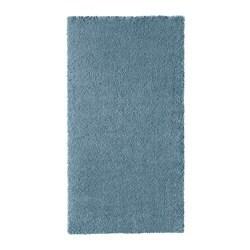 ИКЕА STOENSE, Ковер с коротким ворсом, 004.270.07, средний синий, 80x150 см