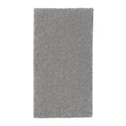 ИКЕА STOENSE, Ковер с коротким ворсом, 504.268.35, средний серый, 80x150 см