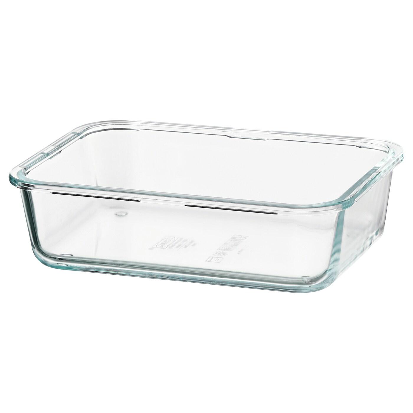 ИКЕА IKEA 365+, Пищевых контейнеров, 703.591.99, прямоугольник, стекло, 1,0 л