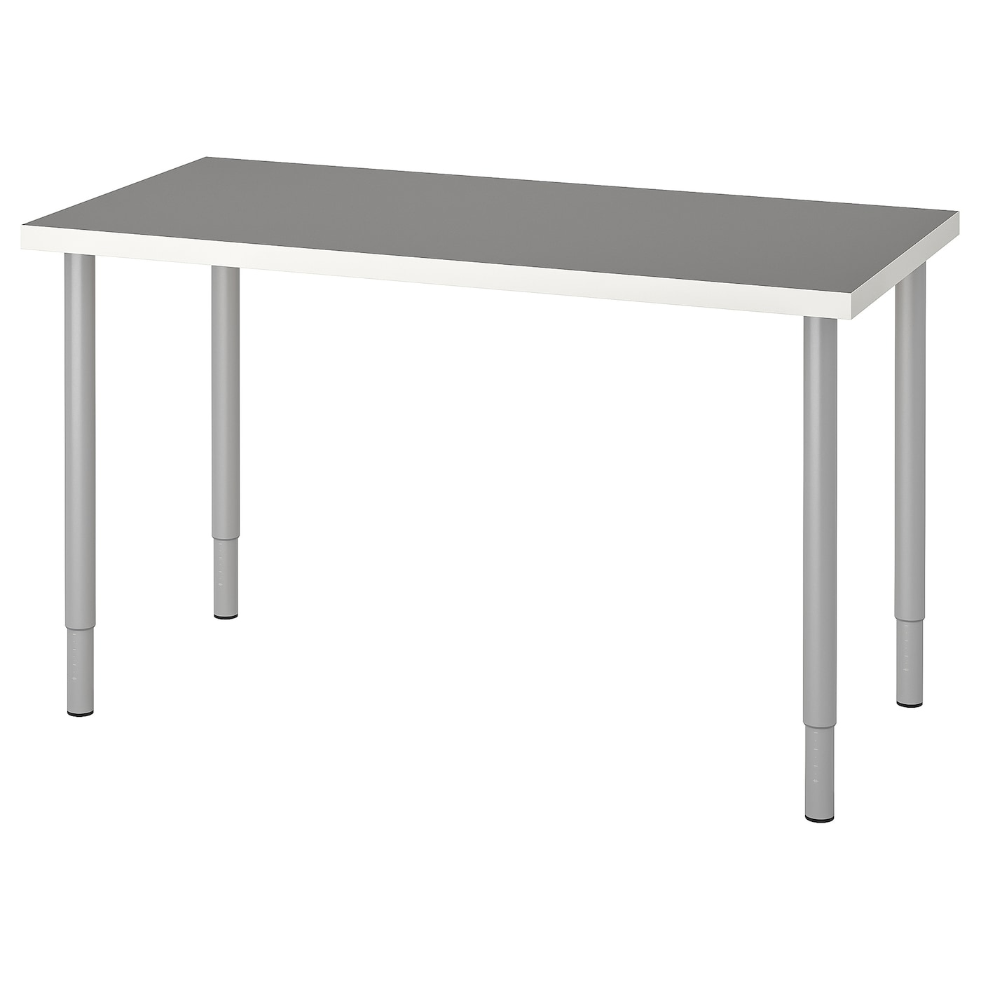 ИКЕА LINNMON / OLOV, Таблица, 093.313.07, светло-серый белый, серебристый, 120x60 см