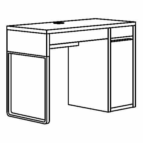 ИКЕА MICKE, стол письменный, 102.447.43, Черно-коричневый, 105x50 см