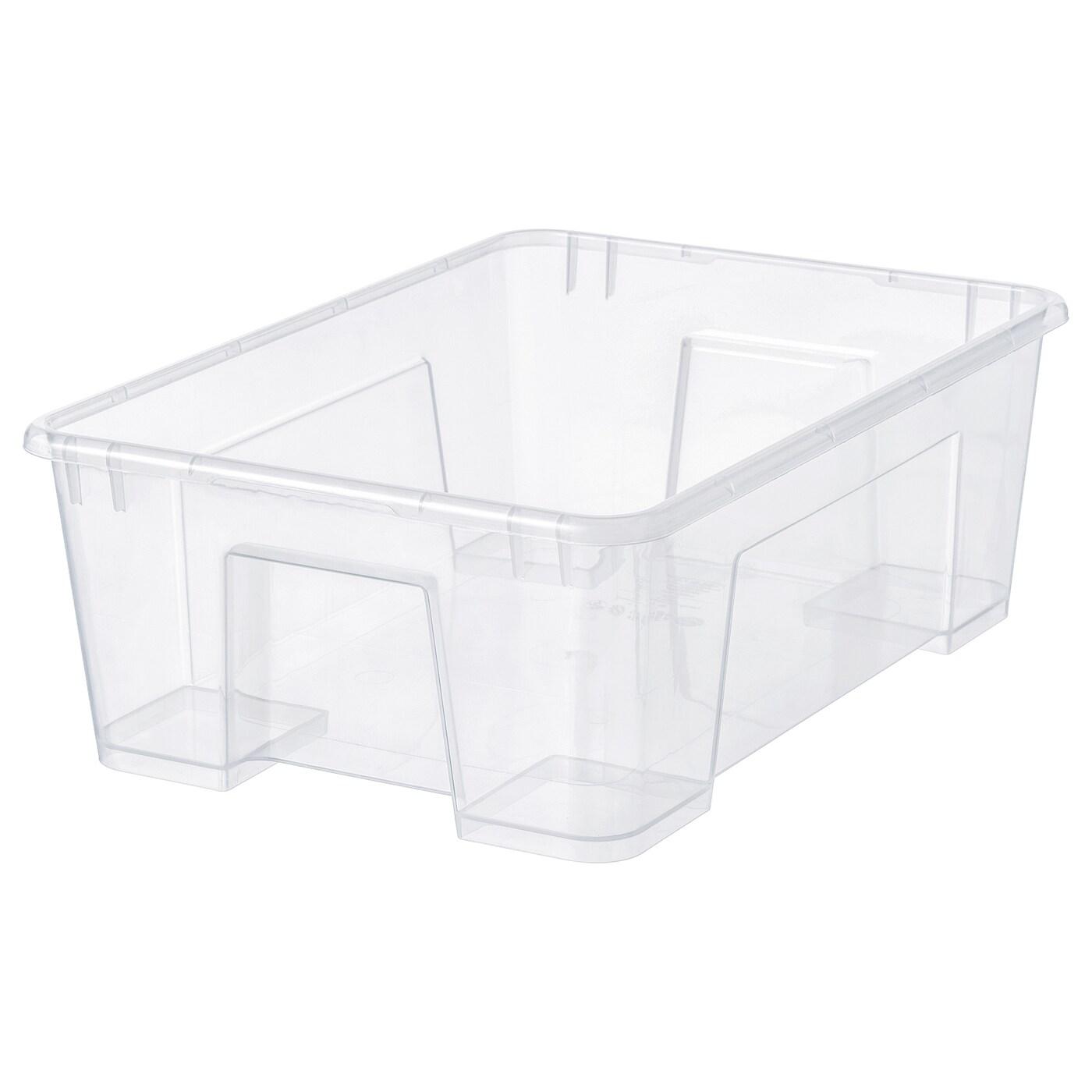 ИКЕА SAMLA, Коробка, 401.029.78, прозрачный, 39x28x14 см / 11 л